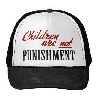 Los niños no son castigo gorras de camionero