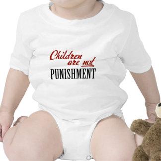 Los niños no son castigo traje de bebé