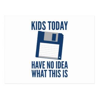 Los niños no tienen hoy ninguna idea cuáles esto e tarjetas postales
