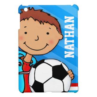Los niños nombran al muchacho del fútbol/del fútbo