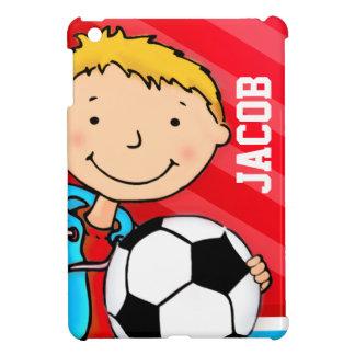 Los niños nombran al muchacho del fútbol/del fútbo iPad mini carcasas