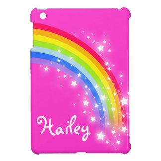 Los niños nombraron el arco iris ipad rosado brill iPad mini carcasas