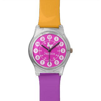 Los niños nombraron fácil rosado leer el reloj