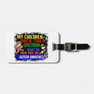 Los niños oscilan el autismo del espectro etiquetas para equipaje