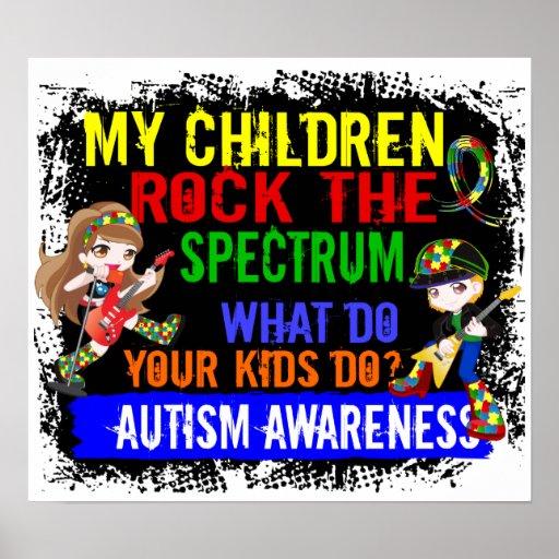 Los niños oscilan el autismo del espectro impresiones