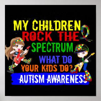 Los niños oscilan el autismo del espectro poster
