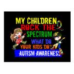 Los niños oscilan el autismo del espectro tarjetas postales