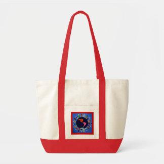 Los niños pacíficos en todo el mundo empaquetan bolsa