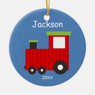 Los niños personalizaron el ornamento del tren del ornamentos de navidad