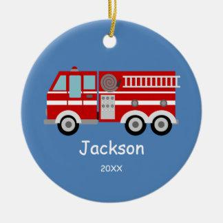 Los niños personalizaron navidad rojo del coche de ornamentos de navidad