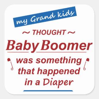 los niños piensan que el nacido en el baby boom es pegatina cuadrada
