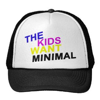 Los niños quieren el casquillo mínimo gorras de camionero