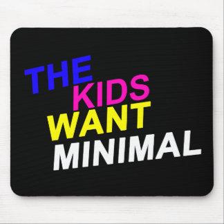 Los niños quieren el cojín de ratón mínimo mouse pad