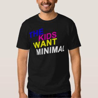 Los niños quieren la camiseta mínima playeras