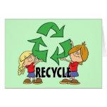 Los niños reciclan tarjeta