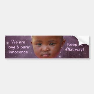 Los niños son amor puro etiqueta de parachoque