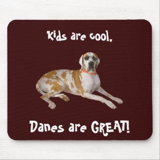 ¡Los niños son frescos, los daneses son GRANDES! Tapetes De Ratón