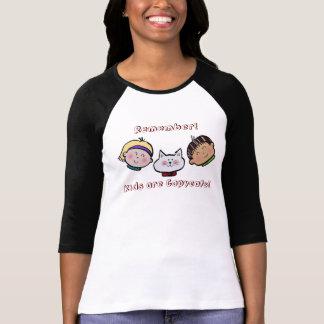 ¡Los niños son imitadores! Camiseta