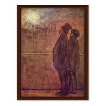 Los noctámbulos de Daumier Honoré Tarjeta Postal