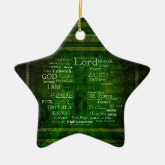 LOS NOMBRES DE DIOS enumerados Adorno Navideño De Cerámica En Forma De Estrella
