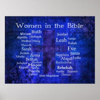 Los nombres de la BIBLIA importante de las mujeres Póster