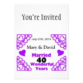 Los nombres de los remolinos de Purple Heart y Anuncios Personalizados