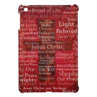 Los nombres del Jesucristo de la biblia iPad Mini Funda