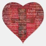 Los nombres del Jesucristo de la biblia Colcomanias De Corazon