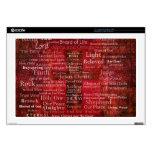 Los nombres del Jesucristo de la biblia Calcomanía Para 43,2cm Portátil
