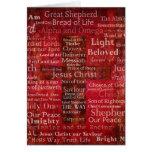 Los nombres del Jesucristo de la biblia Felicitación