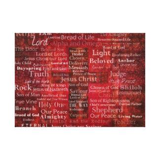 Los nombres del Jesucristo del ARTE de la biblia
