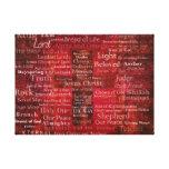 Los nombres del Jesucristo del ARTE de la biblia Impresión En Lienzo Estirada