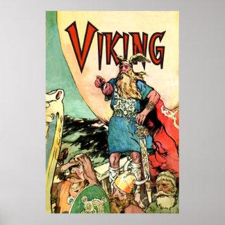 Los nórdises de los guerreros del Norseman del Tho Póster