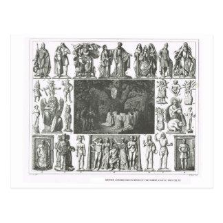 Los nórdises, Galia y dioses célticos Postal