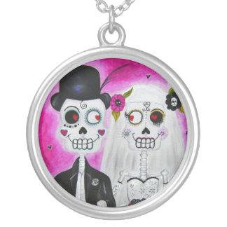 Los Novios Calaca Personalized Necklace