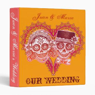 Los Novios - carpeta del boda del cráneo del azúca