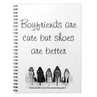 Los novios son lindos pero los zapatos son mejores libreta espiral