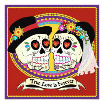 """Los Novios Square Wedding Invitation (English) 5.25"""" Square Invitation Card"""