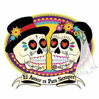 Los Novios Sugar Skull Cake Topper (Spanish) Acrylic Cut Out