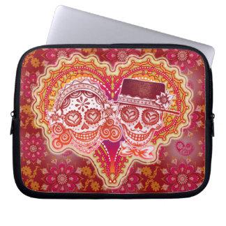 Los Novios Sugar Skull Couple Laptop Sleeve