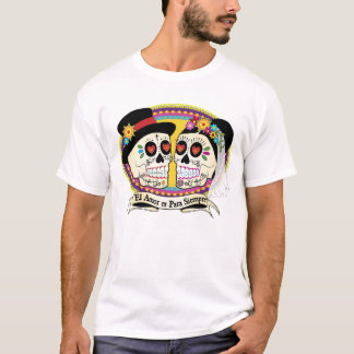 Los Novios Sugar Skull Mens Shirt (Spanish)