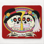Los Novios Sugar Skull Mousepad (Spanish)