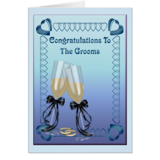 Los novios tarjeta de felicitación
