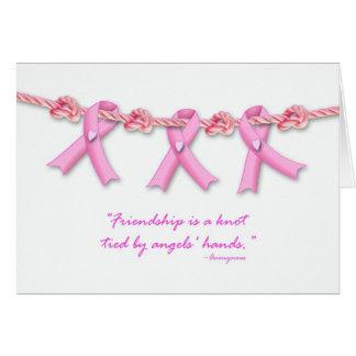 Los nudos de la amistad contra cáncer de pecho, tarjeta de felicitación