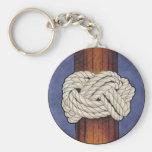 Los nudos de los marineros llavero personalizado