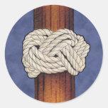 Los nudos de los marineros pegatina redonda