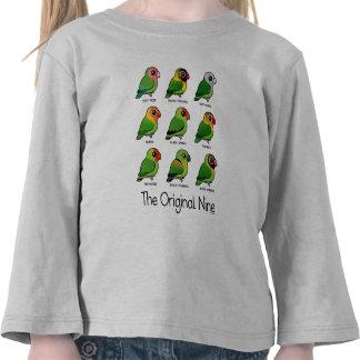 Los nueve originales camiseta