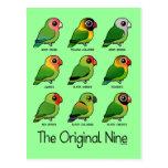 Los nueve originales postal