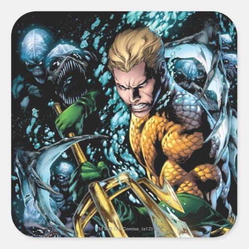 Los nuevos 52 - Aquaman #1 Pegatina Cuadrada