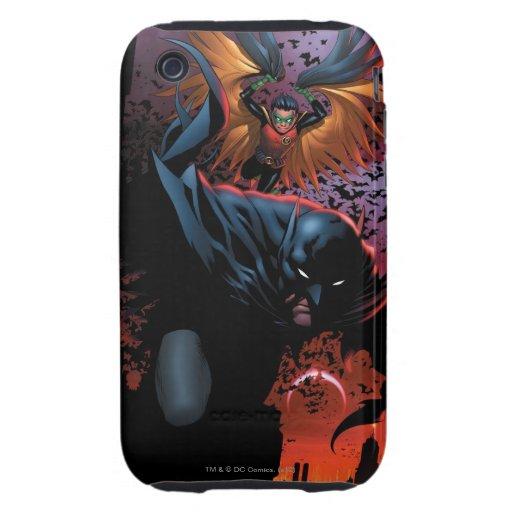 Los nuevos 52 - Batman y petirrojo #1 iPhone 3 Tough Protector